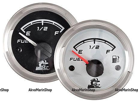 Указатель уровня топлива черный с нерж окантовкой 10-190 Oм Мореман Арт MM 10252164