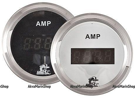 Амперметр черный с нержавеющим ободком, цифровой, 150A, Мореман Арт MM 10252254