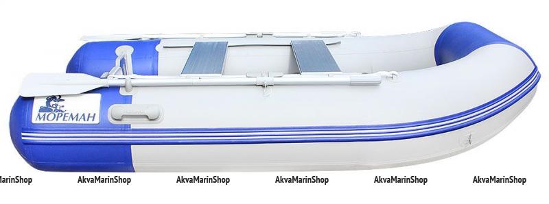 Надувная моторно-гребная лодка «Мореман 340» надувной пайол Арт MM 10259039