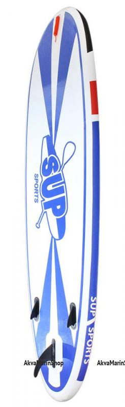 SUP доска, синяя с черными, красными и белыми вставками, 335 см Арт MM 10259737