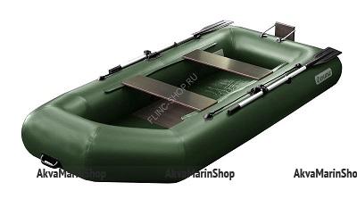 Надувная лодка Феникс 280 Т (цвет зеленый) (с транцем)