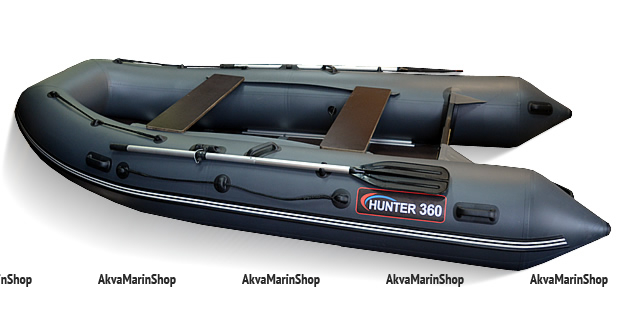 Лодка надувная с фанерным дном килевая Хантер 360
