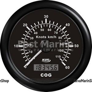 GPS-Спидометр аналоговый черный с черной окантовкой KUS Арт WM KY08211