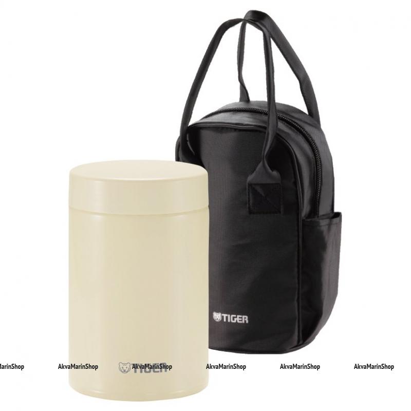 Термоконтейнер для первых или вторых блюд Tiger MCJ-A075 Cauliflower, 0,75 л в сумке Tiger Арт CMP MCJ-A075 CK