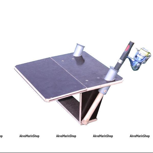 Столик для лодки ПВХ с площадкой для эхолота, держателями спиннигов и аккамулятора Арт TB12