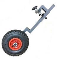 Транцевые колеса на струбцинах без сверления транца, оцинкованная сталь Арт IvT