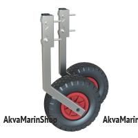 Транцевые колеса быстросъемные с прямоугольным профилем (порошковая покраска) для лодки ПВХ Арт Kl ТК-150