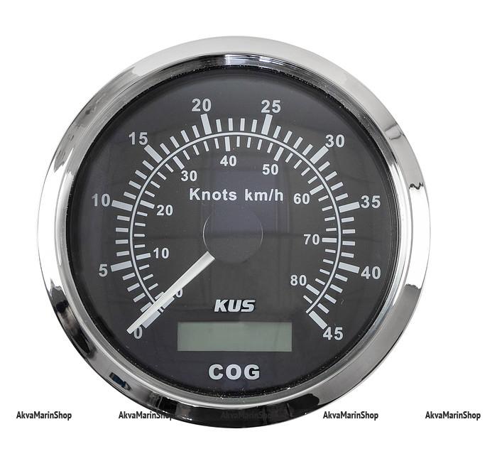 GPS-Спидометр аналоговый черный с нержавеющей окантовкой KUS Арт WM JMV00222
