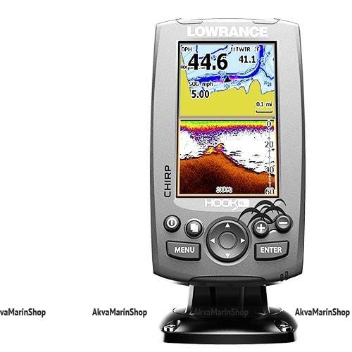 Эхолот-картплоттер Lowrance Hook-4 Mid/High/DownScan Арт SM