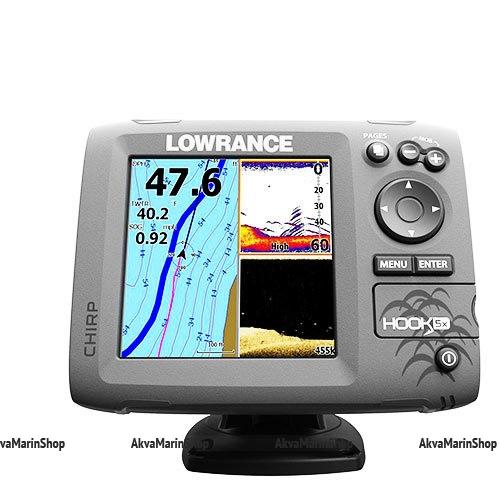 Эхолот Lowrance Hook-5x Mid/High/DownScan Арт SM