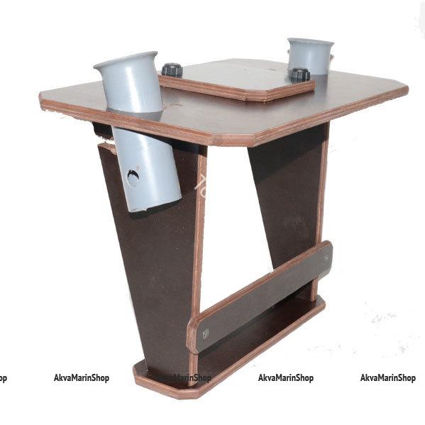 Столик для эхолота с держателями для спиннинга на баллон или банку Арт TB25