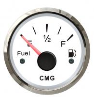 Указатель уровня топлива белый с нерж окантовкой 0-190 Ом WEMA Арт CMG 510011