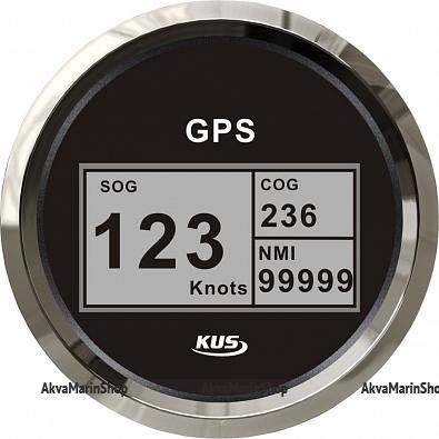 GPS-Спидометр цифровой черный с нержавеющей окантовкой KUS Арт WM KY08021