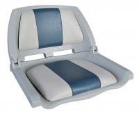 Сиденье в лодку складное серо-синее с подушками Арт CMG 710184