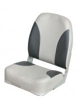 Сиденье складное мягкое серо-графитовое высокая cпинка Арт CMG 710187