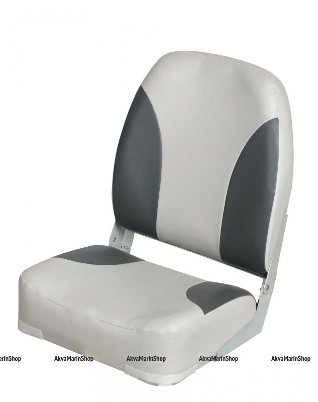 Сиденье складное мягкое серо-графитовое высокая cпинка Springfeld Арт CMG 710187