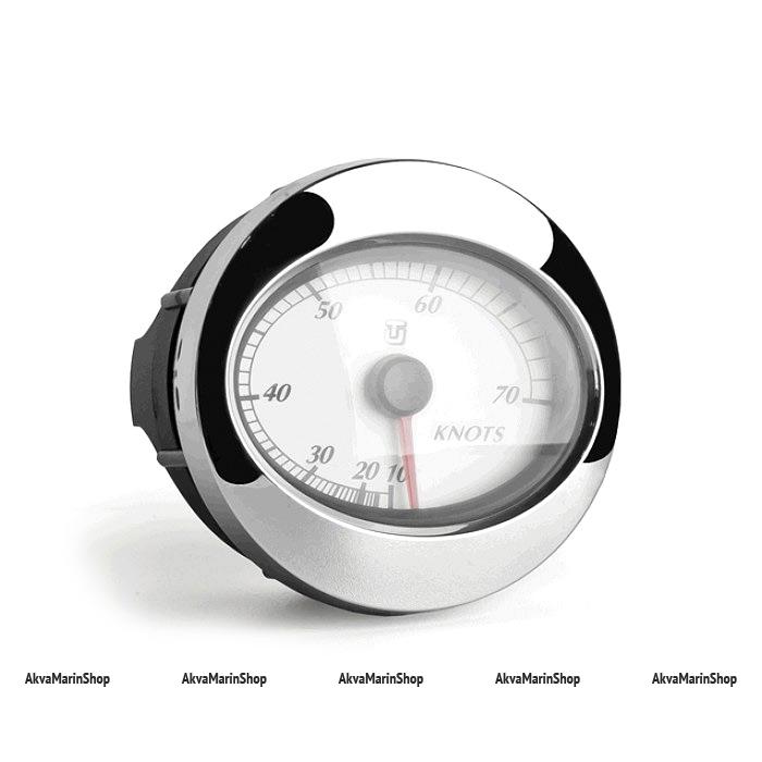 Спидометр белый с хромированной окантовкой, манометрический UFLEX Арт WM 66644V