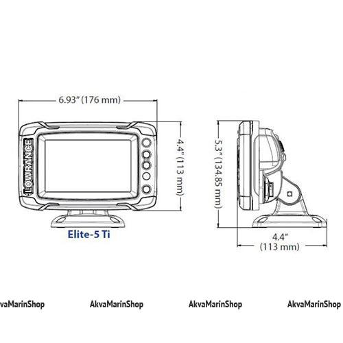 Эхолот-картплоттер Lowrance Elite-5Ti Mid/High/DownScan Арт SM