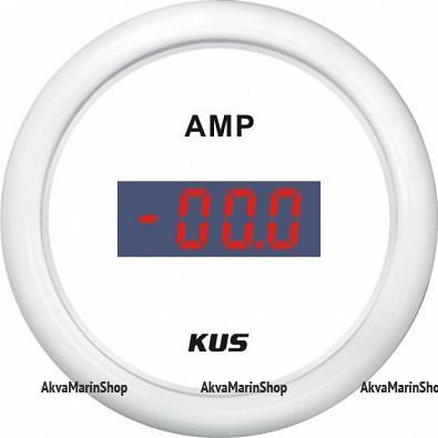 Амперметр белый с белым ободком, цифровой, 80-0-80 А KUS Арт WM KY26301
