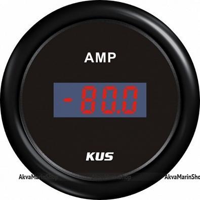 Амперметр черный с черным ободком, цифровой, 80-0-80 А KUS Арт WM KY26201