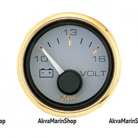 Вольтметр серый с золотой окантовкой аналоговый SIGNATURE GOLD STYLE, FARIA Арт TDC 14505