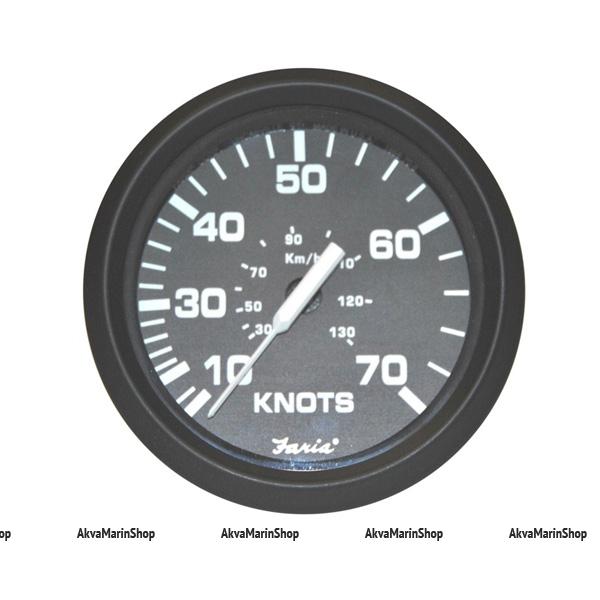 Спидометр черный с черным ободком, 70 миль/час, серия «EURO BLACK STYLE»Faria Арт TDC 32813