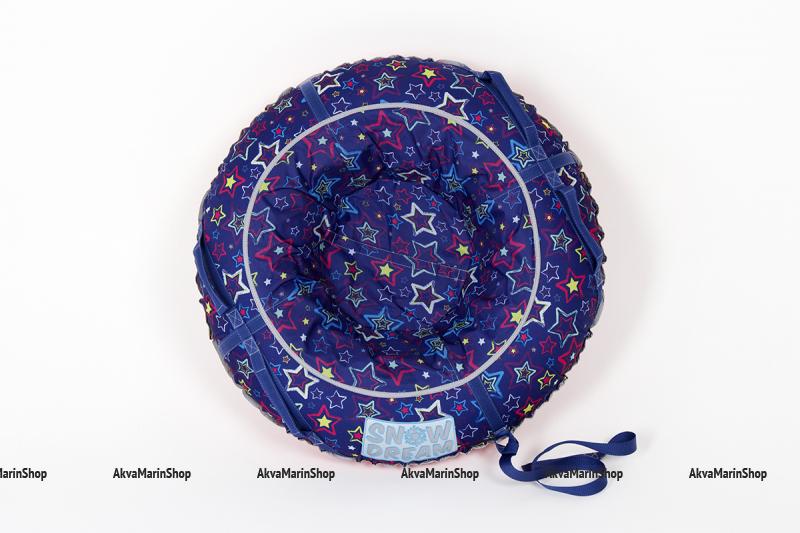 Санки ватрушка SnowDream «Синие звезды» 100 см. Арт SD