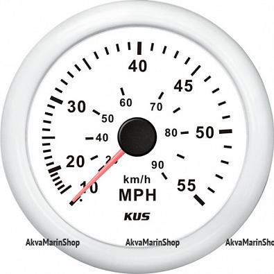 Спидометр белый с белой окантовкой, манометрический KUS Арт WM KY18303