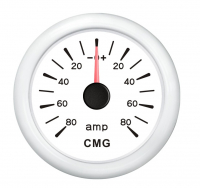 Амперметр белый аналоговый от 0 до 80 Ампер WEMA Арт KMG 510031