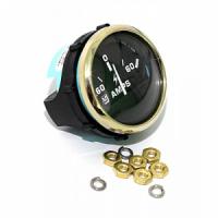 Амперметр черный с золотым ободком, аналоговый, 60-0-60 А UFLEX Арт WM 62060VB