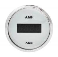 Амперметр цифровой белый с нержавеющим ободком до 50 Ампер KUS Арт VDNKY26101