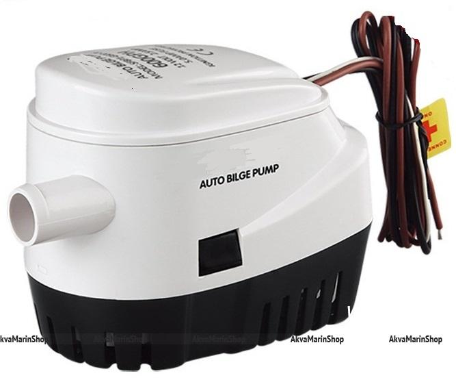 Автоматическая осушительная помпа со встроенным поплавковым выключателем 600 GPH (45 л.мин) Арт KMG110086