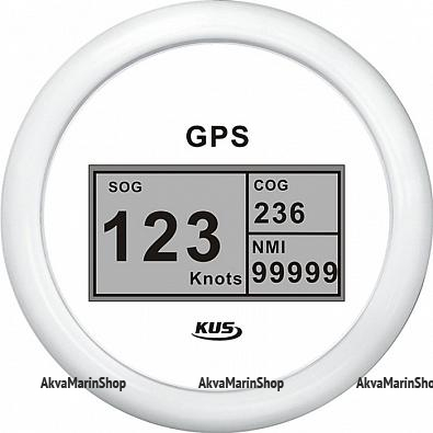 GPS-Спидометр цифровой белый с белой окантовкой KUS Арт WM KY08308