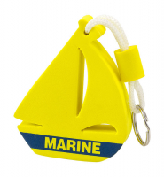 Брелок-поплавок парусник желтый Marine Арт Vdn