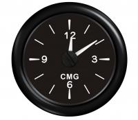 Часы черные с черной окантовкой аналоговые (12-часовой формат) Арт KMG 510028