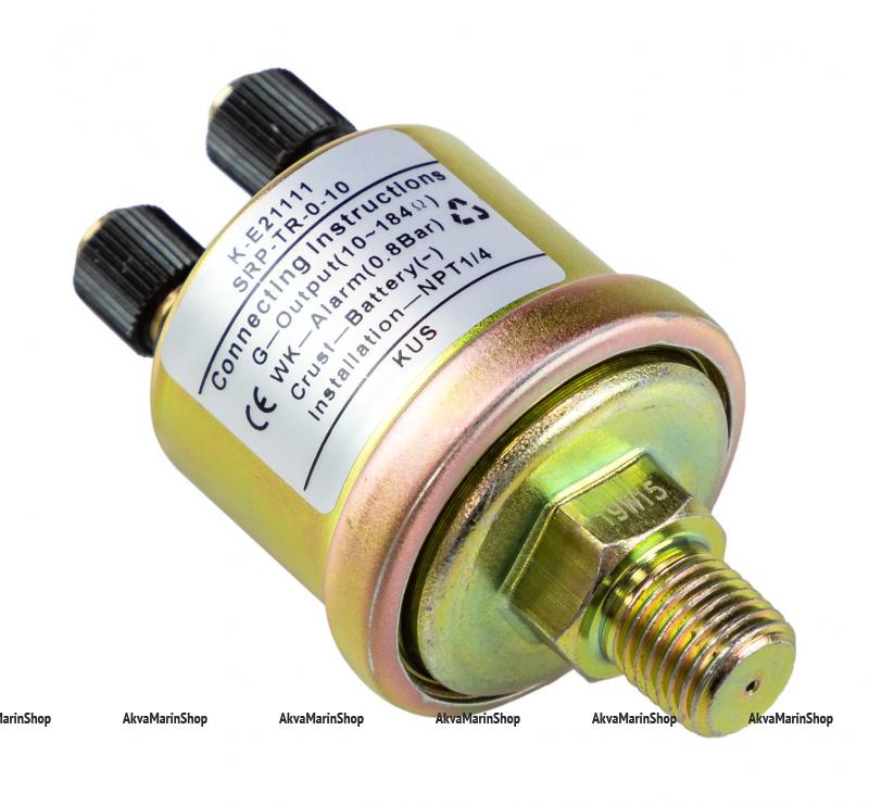 Датчик давления масла 0-10 бар с аварийной сигнализацией при 0.8 бар резьба 1/4 KUS Арт VDNKE21111