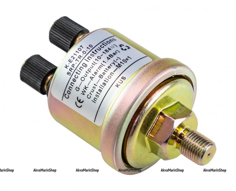 Датчик давления масла 0-10 бар с аварийной сигнализацией при 1.4 бар с резьбой M10 KUS Арт VDNKE21107
