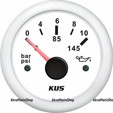 Указатель давления масла белый с белой окантовкой, 12/24V, KUS Арт WM KY15303
