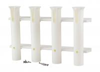 Держатель удилищ на четыре стакана белый пластик Арт Vdn CFRS701P4W
