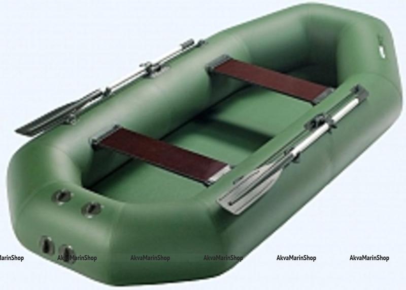 SUP - борд (надувная доска для SUP серфинга) 270cм, синий/оранжевый - Синий цвет