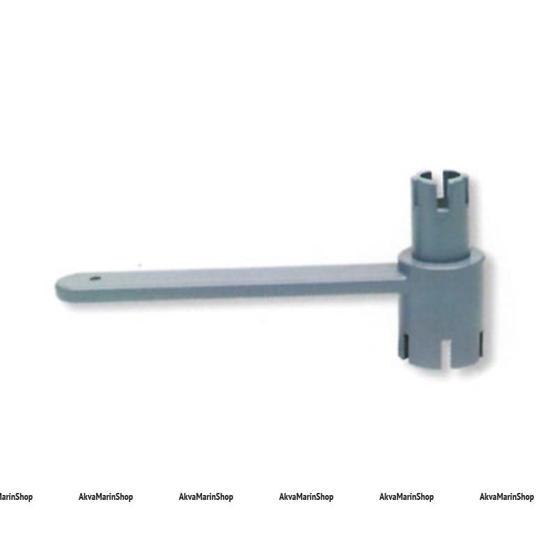 Ключ для клапана универсальный, двухсторонний 6 зубцов Bdr