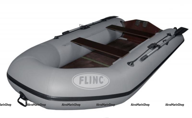 Плоскодонная транцевая надувная лодка с жестким дном FLINC FT290L