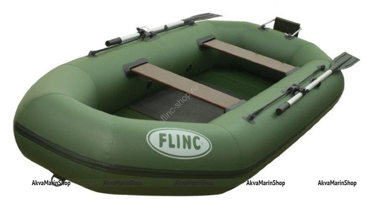 Двухместная надувная лодка пвх FLINC F280TL с навесным транцем