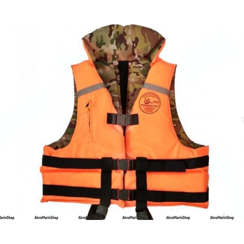 Двусторонний спасательный жилет Poseidon Fish, сертифицированный Арт RB