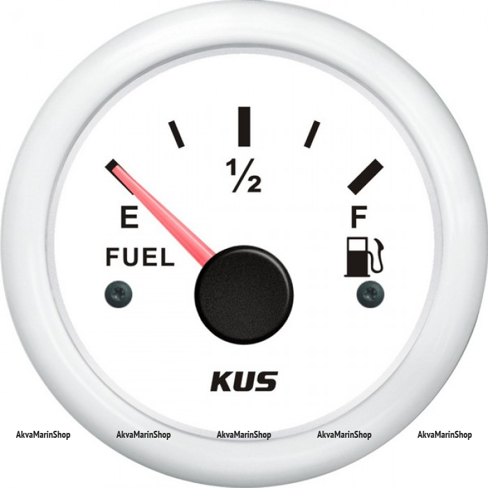 Указатель уровня топлива белый с белым ободком, 0-190 ОМ, KUS Арт WM KY10300