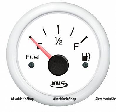 Указатель уровня топлива белый с белым ободком, 240-33 ОМ, KUS Арт WM KY10301
