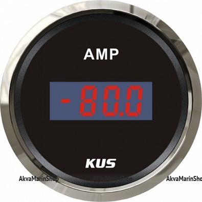 Амперметр черный с хромированным ободком, цифровой, 80-0-80 А KUS Арт WM KY26001