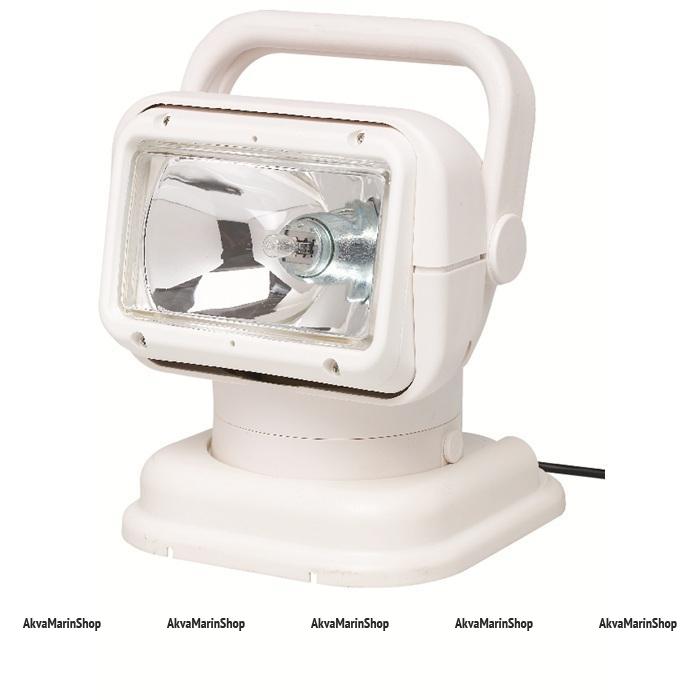 Фара-искатель белый радиоуправляемый галогеновый с магнитным и пластиковым основанием Allremote Арт KMG320007