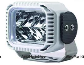 Прожектор светодиодный в белом алюминиевом корпусе 108х140х100 мм., 30 Вт, Allremote Арт KMG 320029