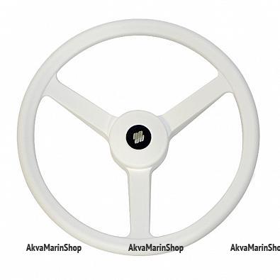 Рулевое колесо 335 мм. белый пластик Арт WM V32W